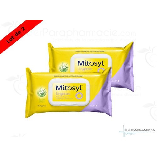 MITOSYL,wipes biodegradables, lot of 2