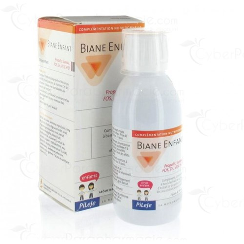 Biane Child Propolis, Elder, FOS, Zn, Vit C and D Dietary supplement based on elderberry extract, propolis extract, FOS, zinc and vitamins C and D - apricot flavor, 150ml bottle
