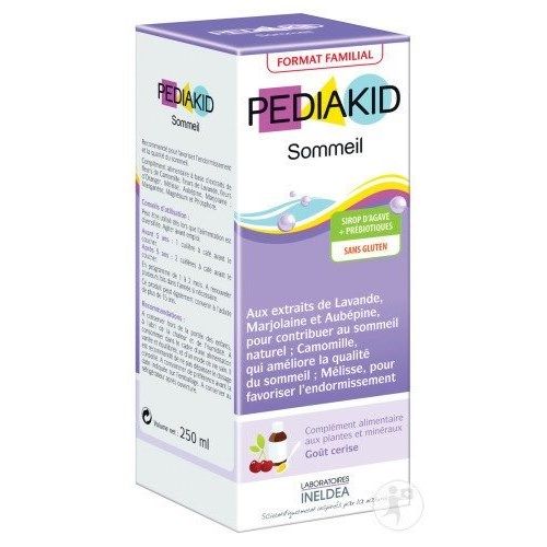 PEDIAKID SLEEP, syrup, food supplement micronutrients, plants, prebiotics. - Fl 125 ml