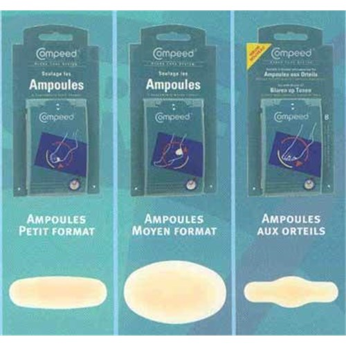 Compeed HYDRO CURE SYSTEM, hydrocolloid dressing special bulbs. extrapetit (ref. K862004) - bt 8