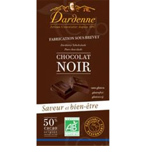 CHOCOLATE CHOCOLATE BAKED Dardenne, Chocolate tablet dark chocolate with cane sugar, 50% cocoa, vanilla more (ref. TB1) - 100 g tablet