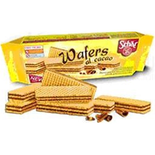 SCHÄR WAFER AL COCOA, Wafer, food dietary gluten, cocoa. - 16 bag