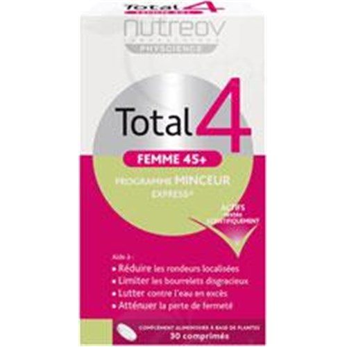 TOTAL 4 45 + WOMEN EXPRESS SLIMMING PROGRAM tablet, food supplements for weight herbal. - Bt 30
