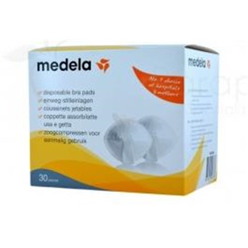 MEDELA BREAST PAD, pad adhesive breastfeeding, disposable - bt 30