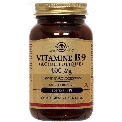 VITAMINE B9 (Acide Folique) 0,4mg 100 Tablets