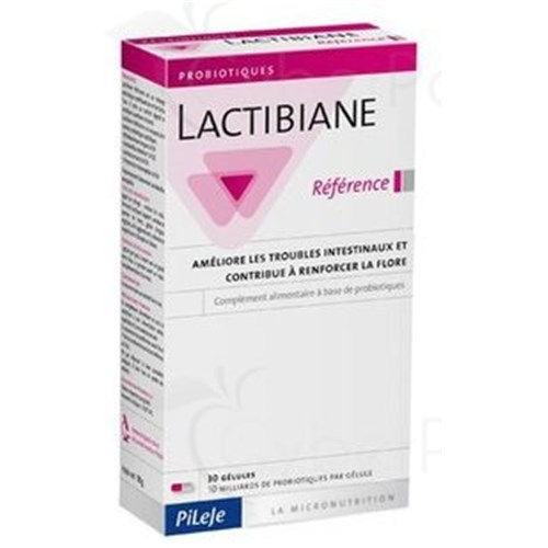 LACTIBIANE REFERENCE CAPSULE, food alimentary complement with ferment lactic, box of 30