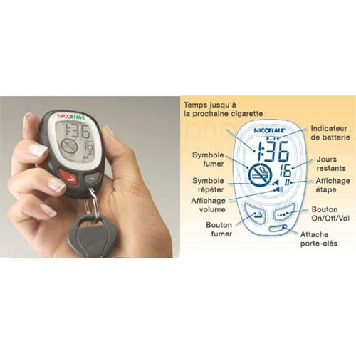NICOTIME, electronic apparatus for smoking cessation progressive and personalized. - Unit