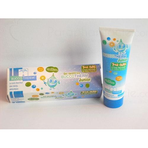 BUCCOTHERM JUNIOR gel fluoride toothpaste for children with thermal water of Castera-Verduzan. - 50 ml tube