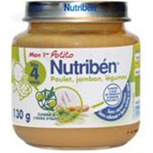 Nutriben MY 1ST POTITO VEGETABLES MEAT Potty Chicken - Ham - vegetables. - 130 g pot