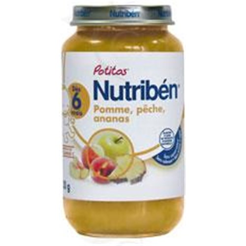 Nutriben POTITOS FRUITS, Potty apple - peach - pineapple. - 250 g pot