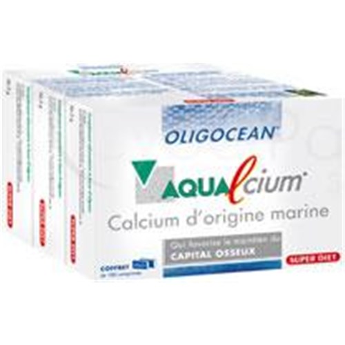 AQUALCIUM Oligocean, tablet, sea food supplement calcium. - Bt 60