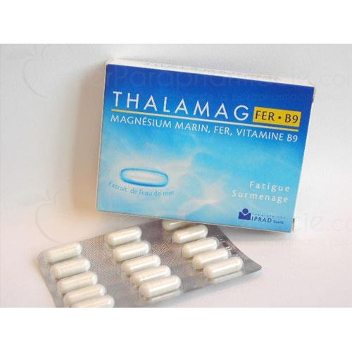 THALAMAG B9 IRON Capsule vitalizing food supplement. - Bt 30