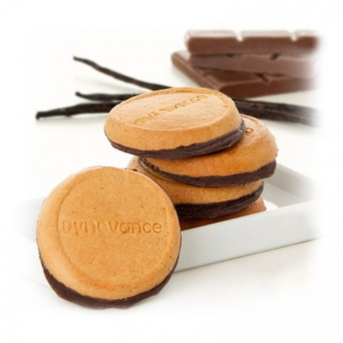 Dynovance Biscuits Vanille socle Chocolat 8 biscuits de 25 g (200 g)