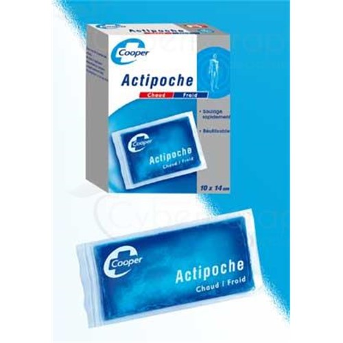 ACTIPOCHE, Cushion reusable for cryotherapy or thermotherapy. 11 cm x 27 cm - unit