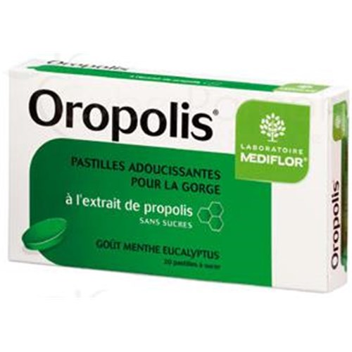 OROPOLIS TABLET MINT, EUCALYPTUS - pellet softening sucking throat, mint taste - eucalyptus. - Bt 20