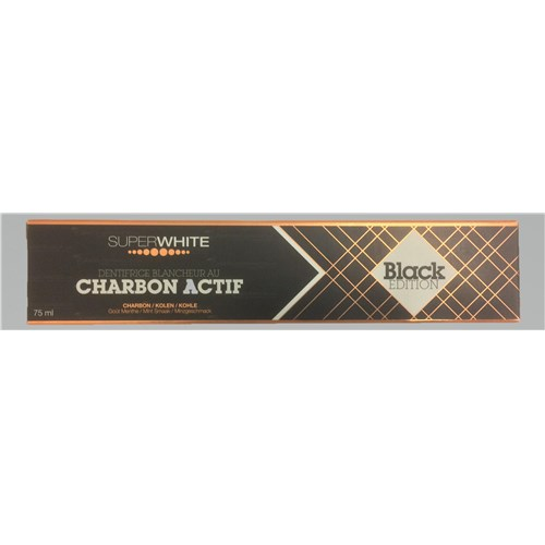 SUPERWHITE CHARBON ACTIF Black Edition dentifrice 75ml