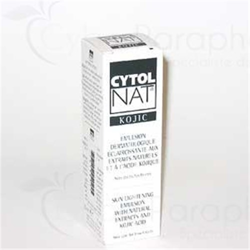 CYTOLNAT KOJIC, Skin Lightening Emulsion with natural extracts and kojic acid 30 ml tube